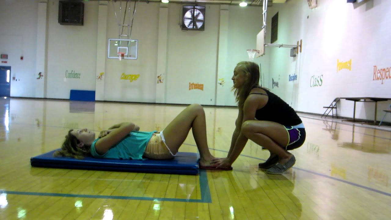 Sit Up Test for Presidential Fitness Testing - YouTube