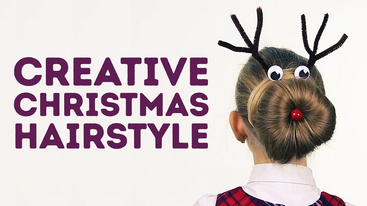 Creative Christmas hairstyle for little girls l 5-MINUTE CRAFTS