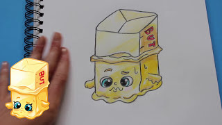 """How to Draw Shopkins Season 1 """"Buttercup"""" Limited Edition Step By Step Easy 