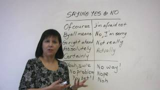 Polite English – Saying Yes and No