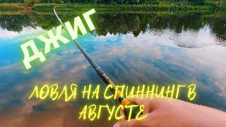 Ловля щуки на джиг с берега Рыбалка в августе на реке Ловля спиннингом на Клязьме