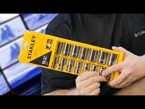 Stanley PRO 12 Socket Set 15 Piece Review (GREAT Gift Ideas UNDER $20)