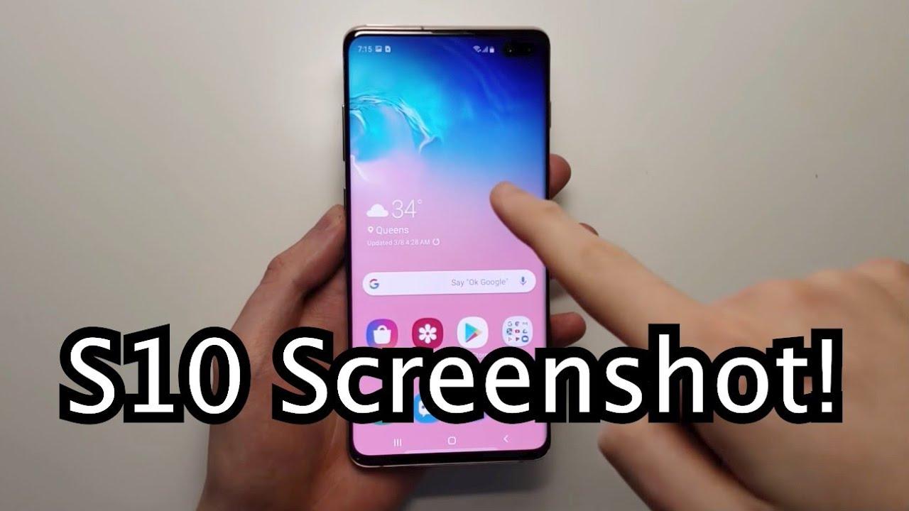 how to screenshot on galaxy s10e