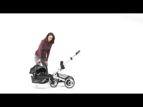 Mutsy Промо пакет Шаси Mutsy Nio Dark Grey+ Кош за новородено и Седалка и сенник Mutsy Nio Inspire Light Shade #-AXOJKT3GGo