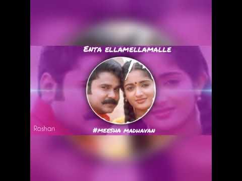 Enta ellamellamalle BGM status video..meesha Madhavan movie