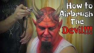 Face painting Devil with Airbrush...