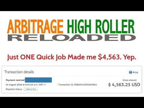 Arbitrage High Roller Reloaded Review Bonus - The 9 Dollar Arb Trick Makes Him 167 Per Day