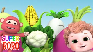 Picking Vegetables At The Farm   Vegetables Song   Blue Fish Kids Songs