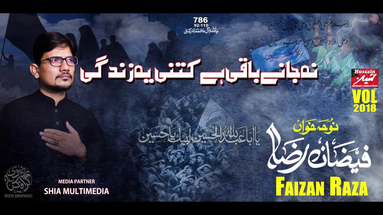 Na Jaane Baqi Hain | Faizan Raza | Nohay 2018-19 | (Muharrum