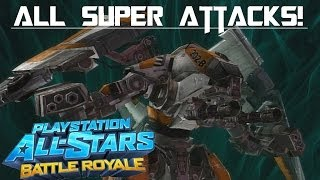 PlayStation All-Stars Battle Royale: All Super Attacks! (With DLC Characters)
