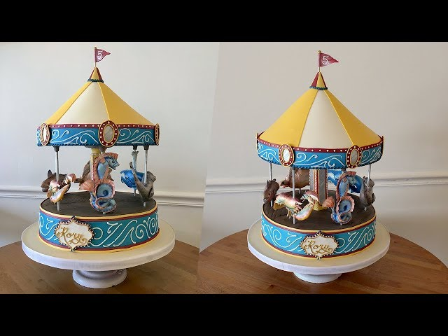 We made Boston's Greenway Carousel out of cake! Carousel Assembly & Fun Animal Talks! [part 4]