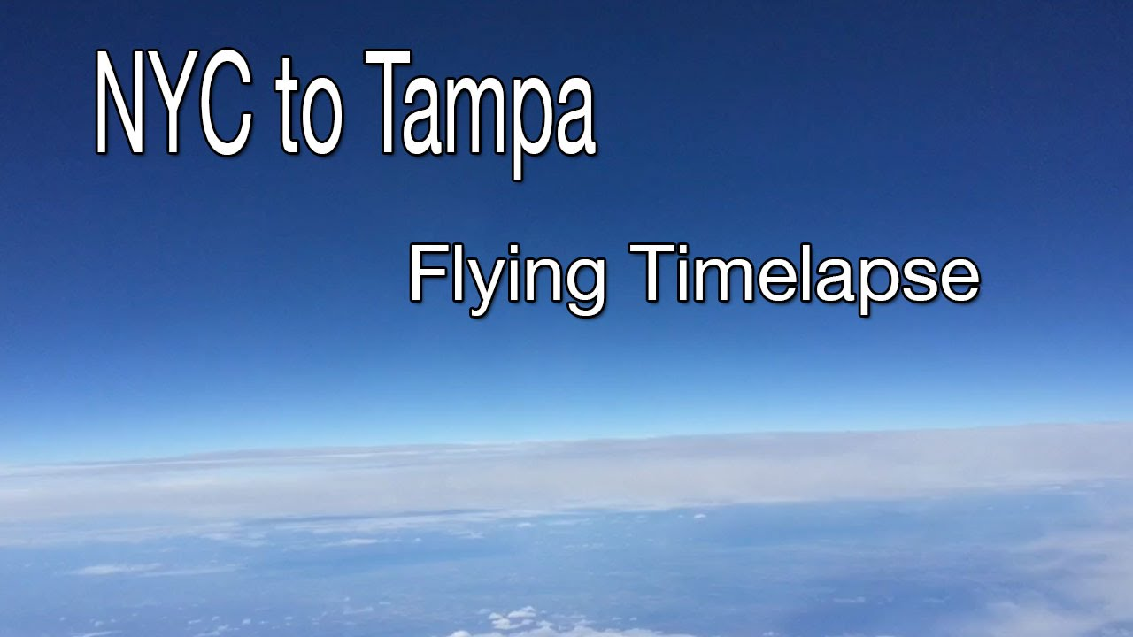 NYC to Tampa Flying Timelapse