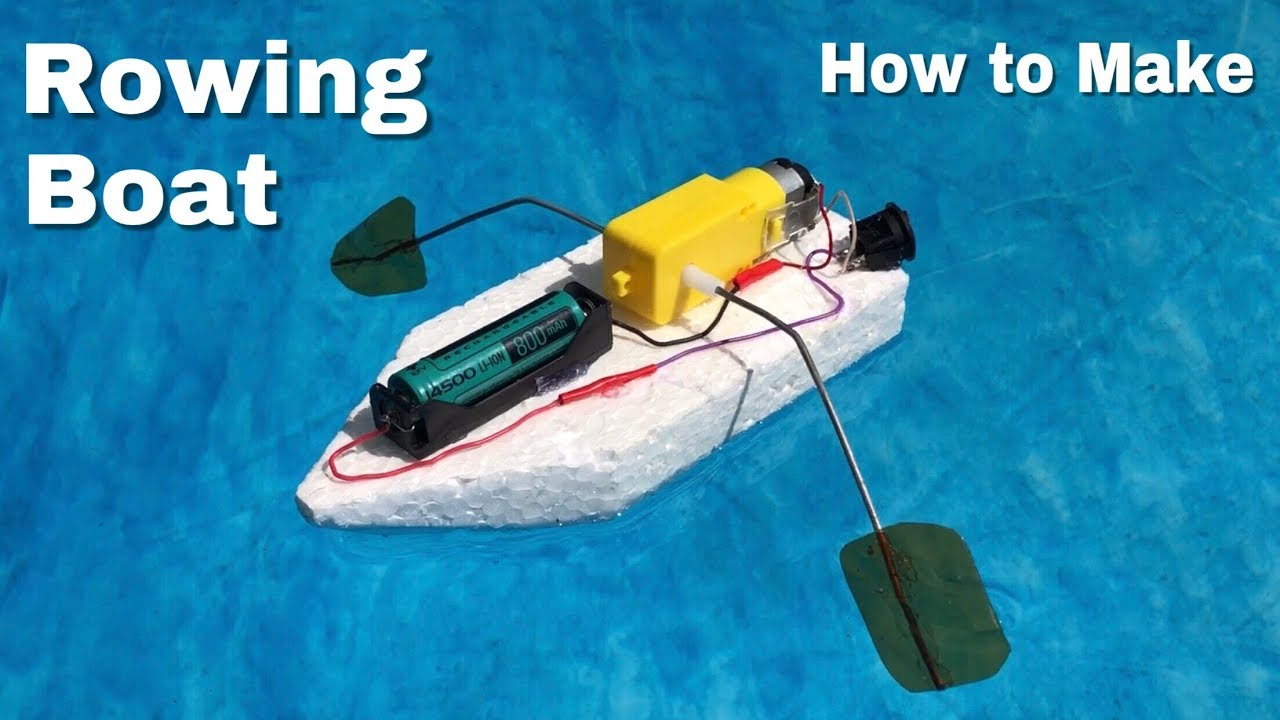 How to Make a Toy Rowing Boat - Amazing idea - YouTube