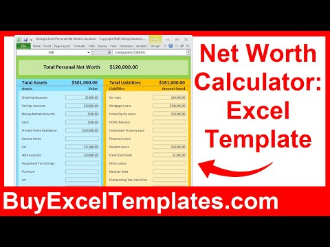 Net Worth Calculator Excel Spreadsheet How To Calculate Personal