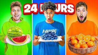 2HYPE Eating One Color Food For 24 Hours Challenge