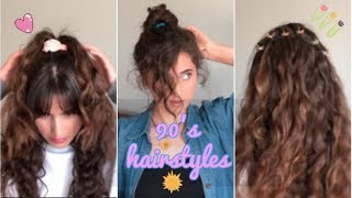 90's Hairstyles | scrunchies & butterfly clips!