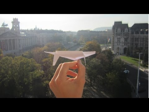 Thumbnail: The Ultimate Paper Airplane Glider In Action (+ tutorial) - My Best Ever Paper Plane