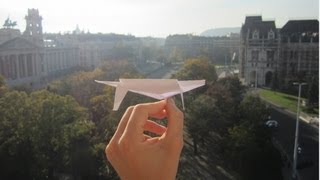 Repeat youtube video The Ultimate Paper Airplane Glider In Action (+ tutorial) - My Best Ever Paper Plane