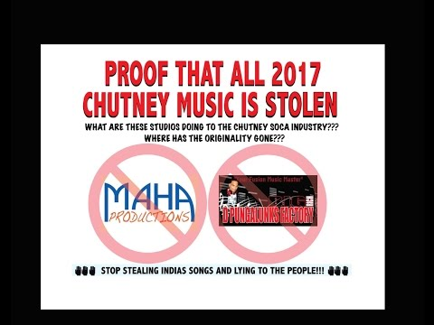 Chutney Soca is a Lie Stolen Music From Bollywood Artists from India!!!