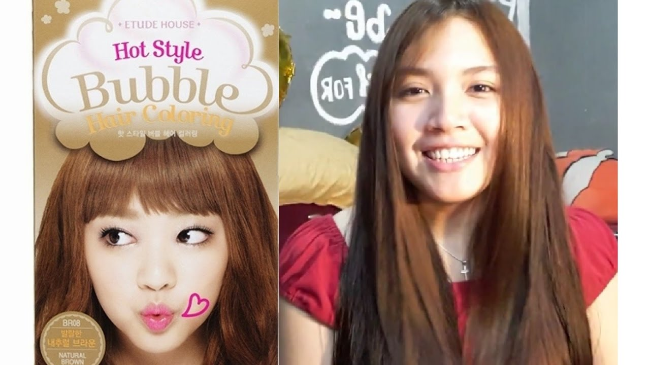 ETUDE HOUSE BUBBLE HAIR COLORING IN NATURAL BROWN YouTube