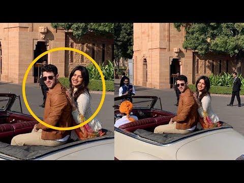 Newly weds Priyanka Chopra and Nick Jonas enjoying Royal Ride at Umaid Bhavan Jodhpur