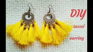 DIY tassel earrings/how to make earring/convert your old earring into a new earring