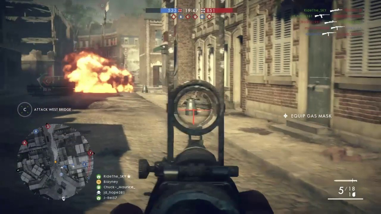 Battlefield 1 How To: Aggressive Scout (Grenades, Gewehrs & Spotting  Flares!)