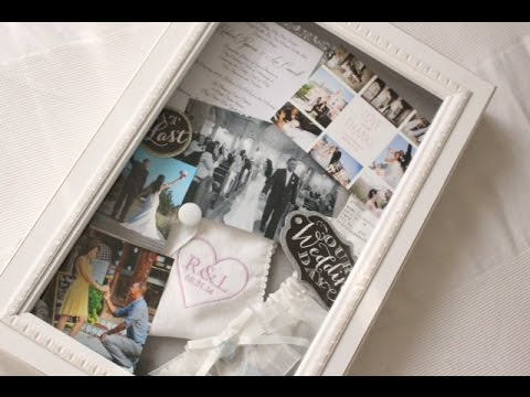 diy wedding project shadow box frame youtube. Black Bedroom Furniture Sets. Home Design Ideas