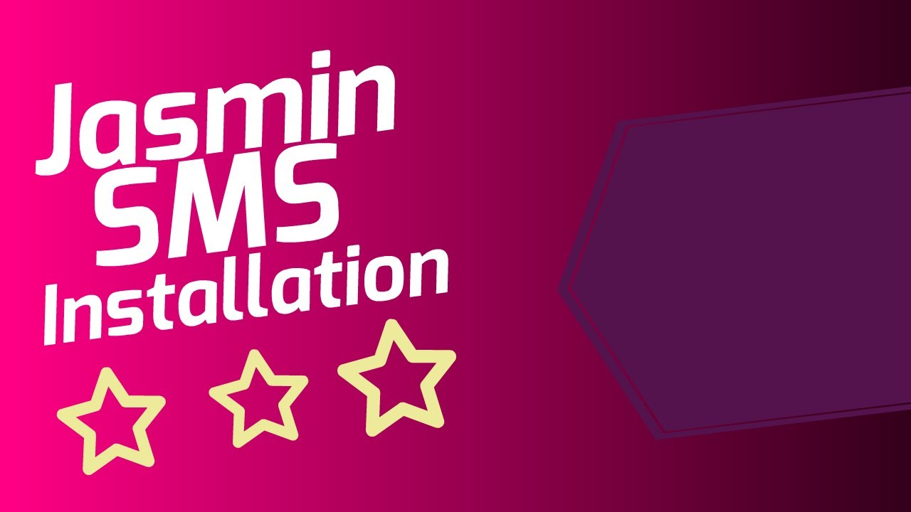 How to install and configure Jasmin SMS Gateway
