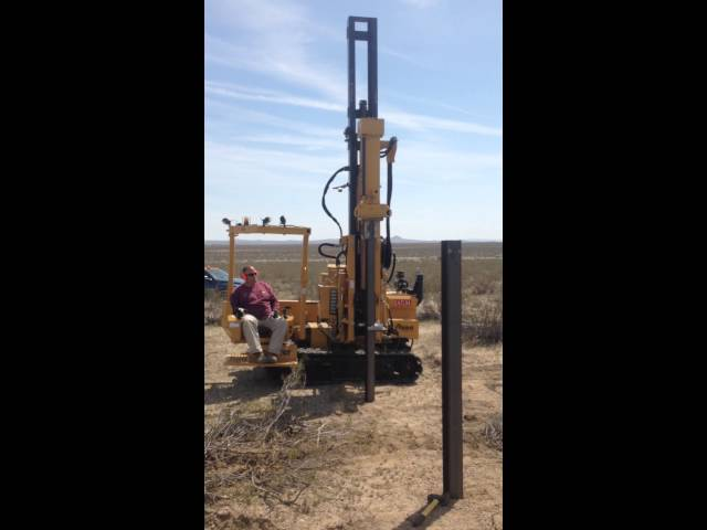 4G geotech PD10 pile installation