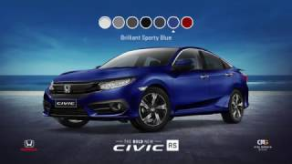 honda civic video brochure review of best civic colours features and accessories