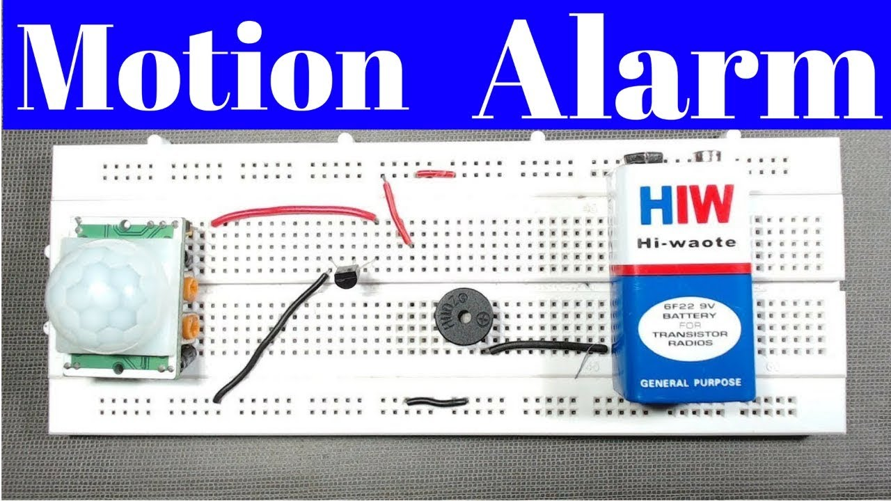 Motion Sensor Alarm Pir Without Microcontrollerdiy How To Make Arduino Night Security With