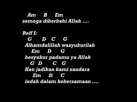 Opick Alhamdulillah Chord Lirik