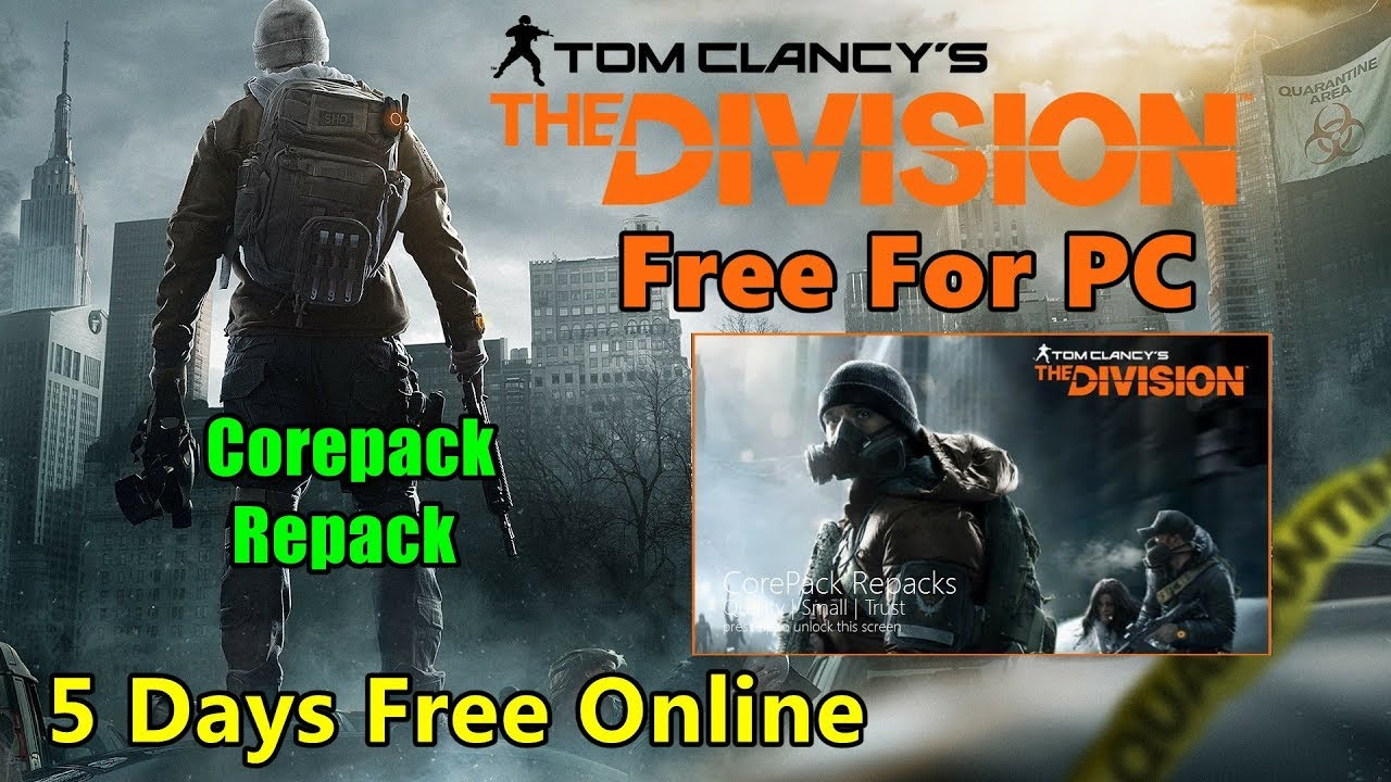 Tom Clancys The Division Corepack Repack Play Free On PC