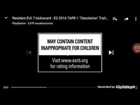 Video reacción de resident evil 7 biohazard E3 2016 omg 😱😱😱😱