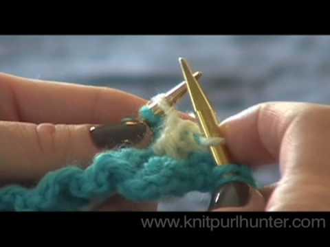 Two Handed Two Color Knitting - YouTube