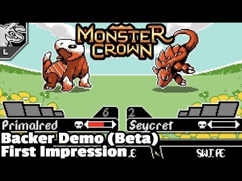 Monster Crown (Kickstarter) Backer Demo • First Impressions (Retro-style Monster Taming RPG)