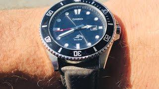 Casio 200m Diver on Gray Carbon Fiber $59!