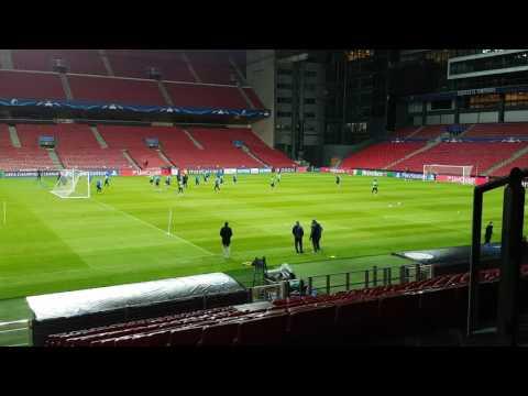 Leicester FC training before Champions League match against FC Copenhagen 2-11-2016