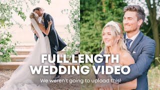 WE WEREN'T GOING TO UPLOAD THIS // Full Length Wedding Film With Groom Reaction