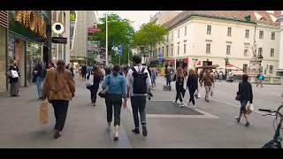 Торговая улица Всё спешат на шоппинг Австрия Вена