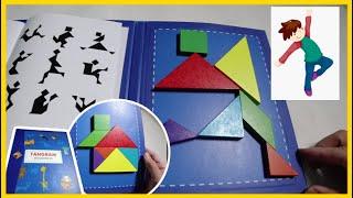 Trò Chơi Ghép Hình Thông Minh Cho Bé - Xếp Hình Gỗ Tangram sáng tạo thông minh