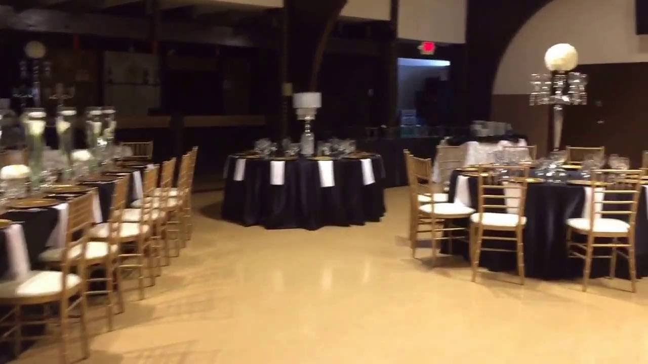 Black And Gold Wedding Reception At The Ford Uaw Hall Youtube