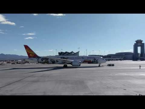 Hainan Airlines first flight into Las Vegas!