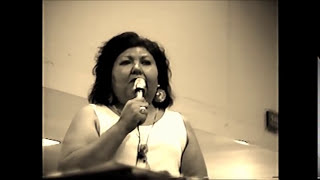 Gayle Hansen-Johnson singing Red White and Blue a Shoshone Indian Flag Song 1996