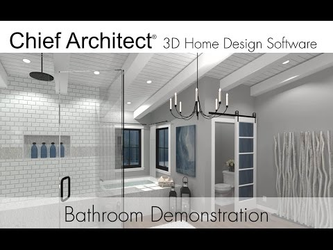 Chief Architect X9 Bathroom Demonstration