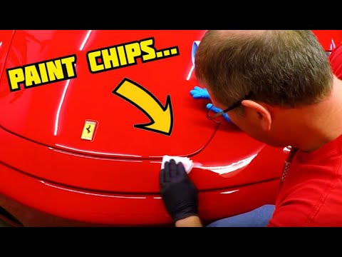 Fixing paint chips on a Ferrari F430 with Dr. Colorchip