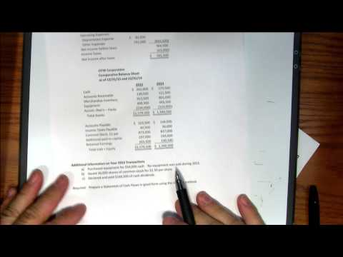 Accounting 2 - ACCT 122 - Program #218 - Cash Flow Statement - Continuation