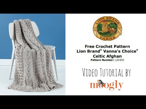 How To Crochet: Lion Brand Celtic Afghan