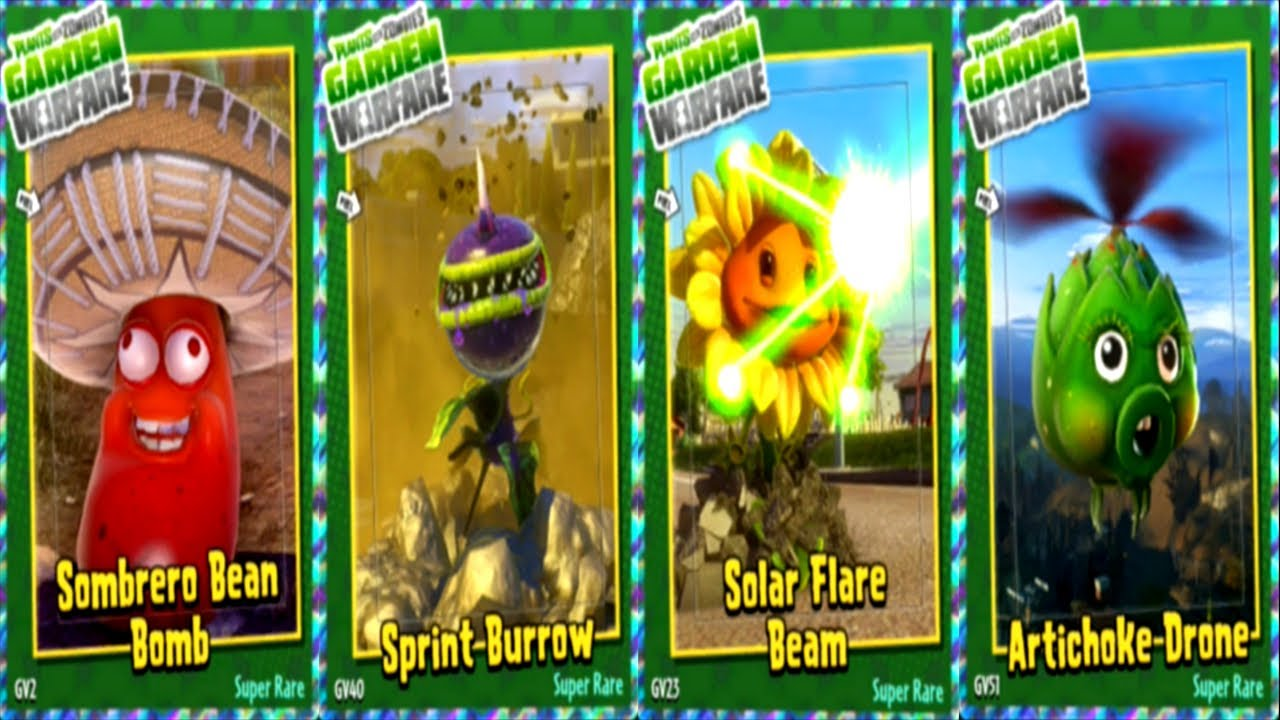 plants vs zombies garden warfare all new abilities plants youtube